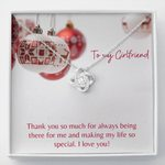 Thank You So Much For Always Being There For Me Gift For Girlfriend Love Knot Necklace