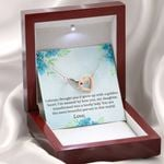 You Are The Most Beautiful Person Gift For Daughter Interlocking Hearts Necklace