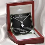 Message Card Alluring Beauty Necklace Grandpa Gift For Granddaughter Live Your Dreams