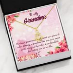 To My Grandma Sweet As A Piece Of Cake Anchor Necklace