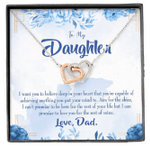 Love You For The Rest Of Mine Gift For Daughter Interlocking Hearts Necklace With Mahogany Style Gift Box