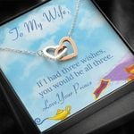 Interlocking Hearts Necklace Gift For Wife You Would Be All Three
