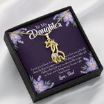 To My Daughter You Are A Gift From Heaven Dad Giraffe Couple Necklace