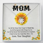 Thank You For All The Times Gift For Mom Love Knot Necklace