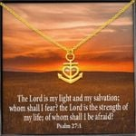 Lord Is My Life My Salvation Anchor Necklace