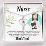 Thanks For Taking Care Of Me Gift For Nurse Stethoscope Necklace