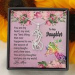 You Are My Best Thing Giraffe Couple Necklace Mom Gift For Daughter