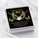 Loss Of A Dad Sympathy Gifts Remembrance Angel Wing Necklace