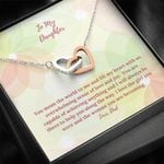 Interlocking Hearts Necklace Dad Gift For Daughter You Mean The World To Me