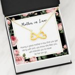 Infinity Heart Necklace Gift For Mother In Law You Get Along With