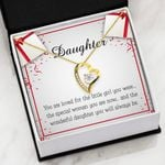 The Wonderful Daughter You Will Always Be Gift For Daughter   Forever Love Necklace