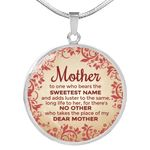 Who Bears The Sweetest Name Circle Pendant Necklace Gift For Mom