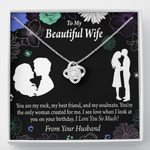 You Are My Rock Gift For Wife Love Knot Necklace
