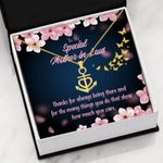 Thanks For Always Being There Gift For Mother In Law Anchor Necklace