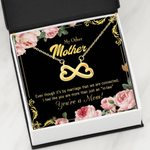 It's By Marriage Infinity Heart Necklace Gift For Mother In Law