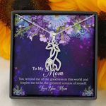 The Goodness In This World Giraffe Couple Necklace Gift For Mom