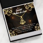 Today Is A Good Time Message Card Anchor Necklace Gift For Mother In Law