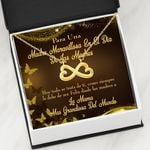 Infinity Heart Necklace Gift For Mom Para Una Madre Maravillosa En St Dia