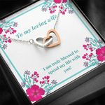 Interlocking Hearts Necklace Gift For Wife Spending My Life With You