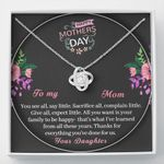 Thanks For Everything You've Done For Us Gift For Mom Love Knot Necklace