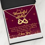 Infinity Heart Necklace Gift For Mom I'm Sorry For Every Trouble