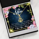 Words Not Enough Message Card Anchor Necklace Gift For Mom