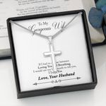 Loving You And Breathing Cross Necklace Gift For Wife