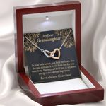 Love Always Gift For Granddaughter Interlocking Hearts Necklace