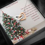 Pine Tree My Everything Interlocking Hearts Necklace Gift For Lovers