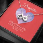 To My Daughter From Mom Valentine's Day Infinity Heart Necklace