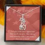 You Give A Lot Giraffe Couple Necklace Gift For Daughter