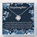 Love Knot Necklace Gift For Stepdaughter You're A Blessing