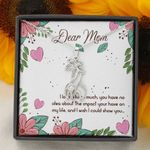 The Impact You Have On My Life Giraffe Couple Necklace Gift For Mom