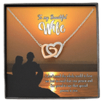 Sunset Gift For Wife Special Person Is You Interlocking Hearts Necklace