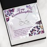 To My Granddaughter Love In Your Heart Infinity Heart Necklace