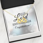 May The Blessings Of Our Lord Be Upon You Infinity Heart Necklace Gift For Women