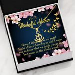 You Are The Best Mom In The Whole World Gift For Mom Anchor Necklace