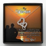 You Complete Me Gift For Lover Double Hearts Necklace