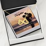 To Daughter Dad Will Hold Your Hand Infinity Heart Necklace
