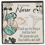 We Appreciate You Interlocking Hearts Necklace Gift For Nurse