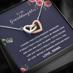 Interlocking Hearts Necklace Nana Gift For Granddaughter When You're Feeling Low