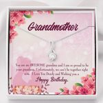 You Are An Awesome Person Message Card Alluring Beauty Necklace Grandson Gift For Grandmother
