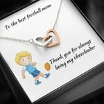 Interlocking Hearts Necklace Gift For Football Mom Thank You