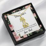 To My Daughter My Magical And Miracle Daughter Giraffe Couple Necklace