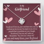 Love Knot Gift For Girlfriend I Love You And I Always Will
