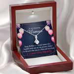 Love You Forever Message Card Alluring Beauty Necklace Gift For Mom