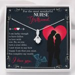 You Complete My World Gift For Nurse Girlfriend Alluring Beauty Necklace