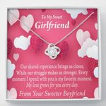 Love Knot Necklace Gift For  Girlfriend Every Moment Spent With You