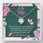 Love You My Dearest Wife Gift For Wife Love Knot Necklace