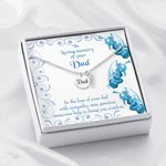 Precious Memories Gift For Angel Dad Remembrance Angel Wing Necklace
